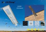 3 années à haut rendement de garantie de la lampe DEL de réverbère solaire