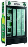 미닫이 문 동적인 냉각 장치를 가진 수직 전시 냉장고 중국제