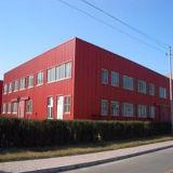 Helles Anzeigeinstrument-Stahlrahmen-vorfabriziertes Gebäude-Huhn-Haus