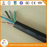 Baja tensión de 2 núcleos de 3 núcleos de 1,5 mm2 de 2,5 mm2 cable flexible de caucho aislado