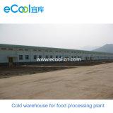 Armazenamento frio personalizado de grande escala para a fábrica de processamento de Refrigration das frutas dos vegetais