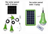 cargador del teléfono del kit del sistema de iluminación del hogar del panel solar 9W
