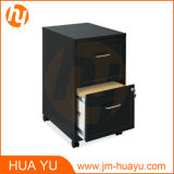 Casters (2 Cabinets)를 가진 Black에 있는 사무실 Furniture 18 Inch Deep 2 서랍 File Cabinet