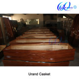 Funeral Wooden Clouded Made Plastic Handle Casket and Coffin