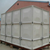 Serbatoio di acqua quadrato di FRP installato con i comitati
