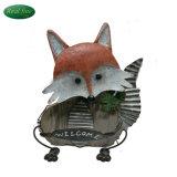 Madera único Fox la bienvenida a bordo para el hogar o decoración de jardín