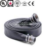 Tubo flessibile durevole della tela di canapa del fuoco del PVC da 1 pollice, tubo flessibile Wearproof flessibile di lotta antincendio