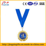 Medalla de oro para el regalo del día de padres o de cumpleaños del papá