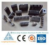 Perfis de alumínio da indústria com vários projetos