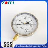 6 pouces Ss Case Compteur en laiton Compteur de pression étanche avec plage de pression 0.25MPa degré de protection IP65