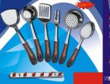 Кухня нержавеющей стали варя комплекты инструментов 7PCS с держателем Ckt7-B02