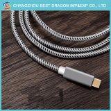 C USB para USB de prata um tipo de carga 2.0 C cabo de dados