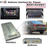 GPS van de auto de Androïde VideoInterface van het Systeem van de Navigatie voor Golf 7, Touran, Passat, Variant van VW, (MIB2) de Navigatie van de Aanraking van de Verbetering, de Link van de Spiegel, het Gegoten Scherm, Kaart Google
