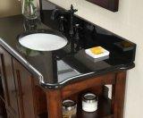 Vaidade preta superior bancada de granito para banheiro moderno