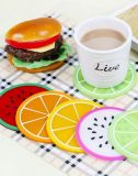 Alles Kinds von Fruit Silicone Cup Mat für Table