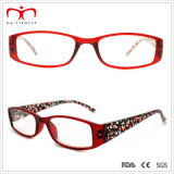 Señoras Plastic Reading Glasses con Cherry Pattern Paper Transfer (MRP21408)