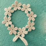 装飾のための綿の花の布のステッカーのレース
