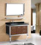 meubles noirs de salle de bains d'acier inoxydable de 900mm (LZ-1818)