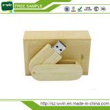 Деревянный привод вспышки USB вращения с изготовленный на заказ логосом