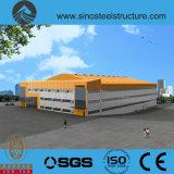 세륨 ISO BV SGS에 의하여 전 설계되는 강철 건축 창고 (TRD-073)
