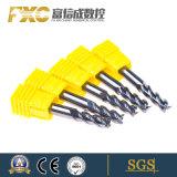 Fxc Solid Carbide 3/4 flûtes bout plat Mills pour acier inoxydable
