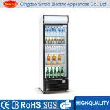 Showcase de vidro comercial do refrigerador do indicador da porta