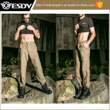 Pantalon occasionnel épaissi par coton de produit hydrofuge d'hommes extérieurs