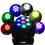 RGBW 4in1 7X12W LED Beam Wash Moving Head Light