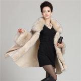 Camisola De Faux Fur De Malha De Fibra De Acrílico Chunky De Moda Feminina (YKY4429)