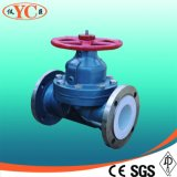 Weir Type Lining PFA Diaphragm Valve for Chemical
