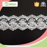 Hochzeits-Einladungs-Netzkabel-Spitze-Rand gestickte Spitze für Brautkleid
