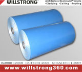 Bobine en aluminium de couleur bleue avec l'enduit de PE