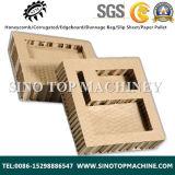 El papel de cartón corrugado vertical