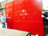 vetro indietro laccato verniciato colore rosso di 5mm