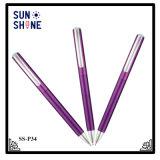 Тонкий корпус цилиндра экструдера рекламных перо красочные пластмассовые ручки на продажи
