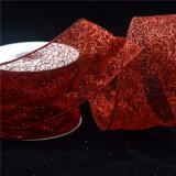 반짝임 빨간 선물 리본 및 활