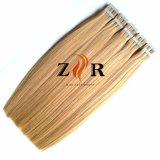 Balayage doble Color de pelo indio llamado cinta en la extensión de cabello humano.