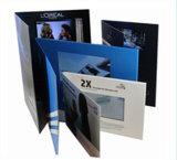 사치품 5.0 인치 LCD 스크린 영상 권유 카드