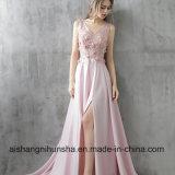 Novo Luxury Pink Satin Longo vestido de Noite