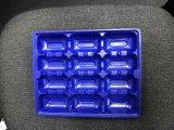 31.5X26cm rechteckiges schwarzes Wegwerf-pp. Plastikausteren-Platten-Tellersegment für das neue gefrorene Austeren-Verpacken