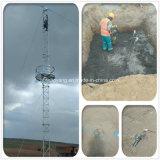 Оцинкованные стальные решетки Guyed мачты антенны Телекоммуникационная башня
