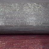 袋の靴のための縞デザインポリウレタンのどの革ファブリック