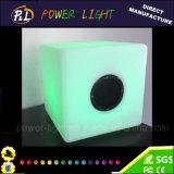 Meubles pour fête et événement Modem en plastique Changement de haut-parleur Bluetooth LED Cube