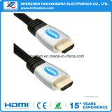 Braid HDMI al cable de HDMI con plateado de oro, ayuda 1080P