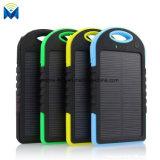 Banco externo duplo da potência de bateria do USB do carregador solar impermeável portátil