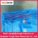 Encerado poli do tamanho grande impermeável UV azul de Resisant