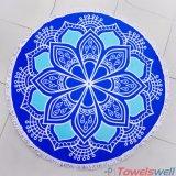 Напечатанное Mandala полотенце пляжа Microfiber круглое с Tassels