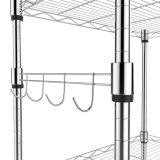 Populares de Nivel 5 Cocina Balcón Sala de almacenamiento en estanterías de alambre de acero cromado