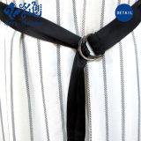 Weiße runde Muffen-Sleeveless reizvolle Form-langes Kleid mit Bund