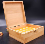 Boîte de présentation en bois de produits de luxe de santé